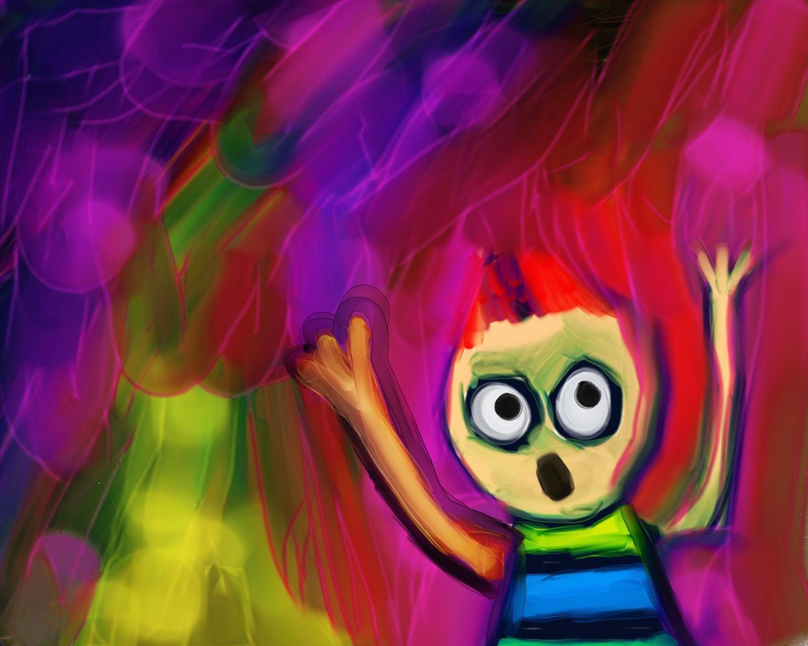 Scream Cartoon Painting
