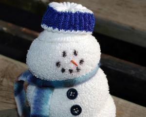 Smiling Sock Snowman
